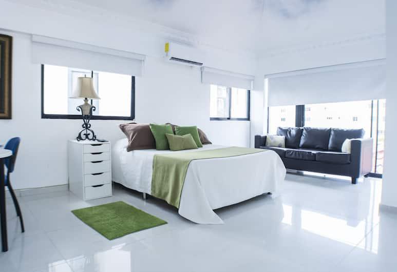 馬勒孔客房酒店, 聖多明哥, 特級客房, 1 張加大雙人床, 海景, 客房