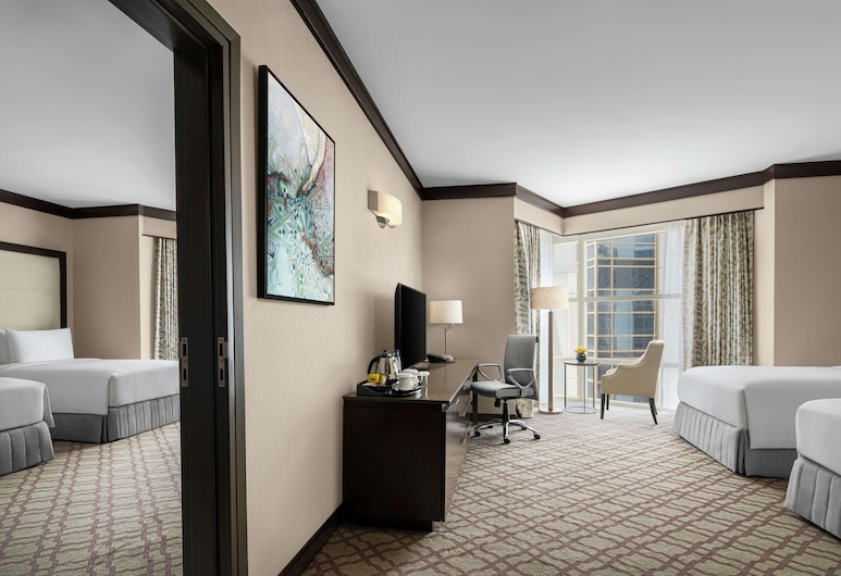 DoubleTree by Hilton Makkah Jabal Omar, Mecca, Family Room, 2 Twin Beds, Connecting Rooms, Partial View, Guest Room