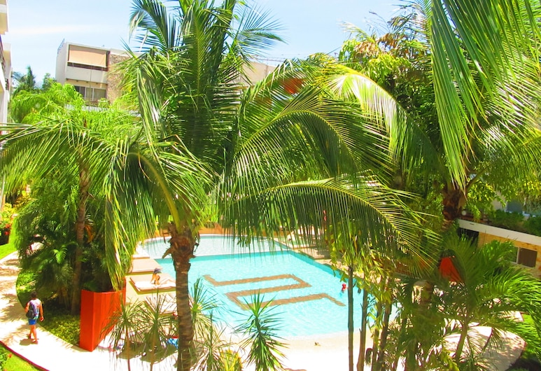 Sabbia Condos by Playa Paradise, Playa del Carmen, Rodinný apartmán, 2 spálne, Výhľad z balkóna