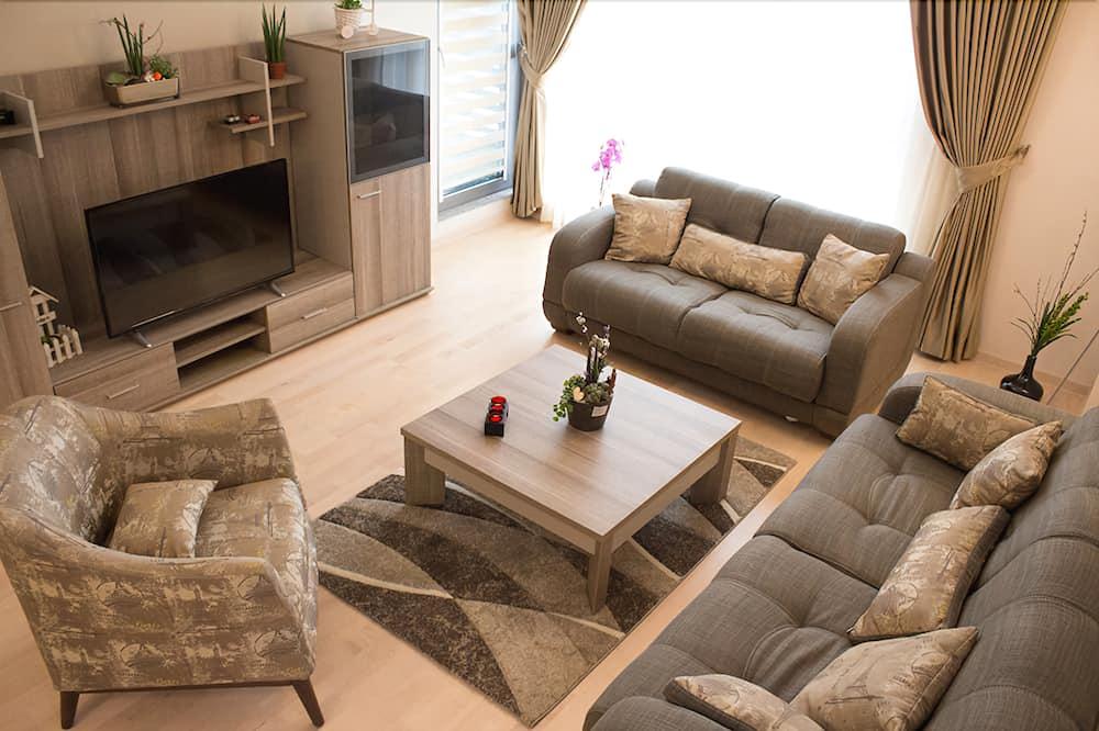 Comfort-Apartment, Stadtblick - Wohnbereich