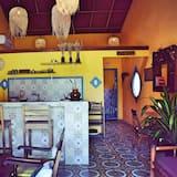 บ้านพักดีไซน์, 1 ห้องนอน, ห้องครัว, ริมทะเล - ห้องนั่งเล่น