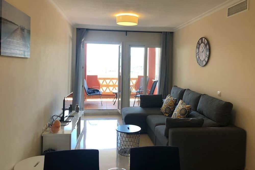 Appartement, 2 slaapkamers, terras, Uitzicht op zee - Woonkamer