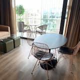 アパートメント 1 ベッドルーム バルコニー シティビュー - リビング エリア