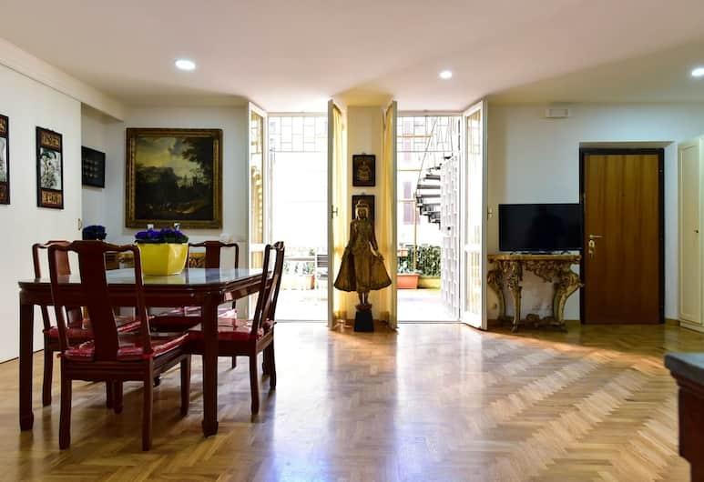 Elite Rome Apartments, Рим, Улучшенные апартаменты, 1 спальня, терраса, Зона гостиной