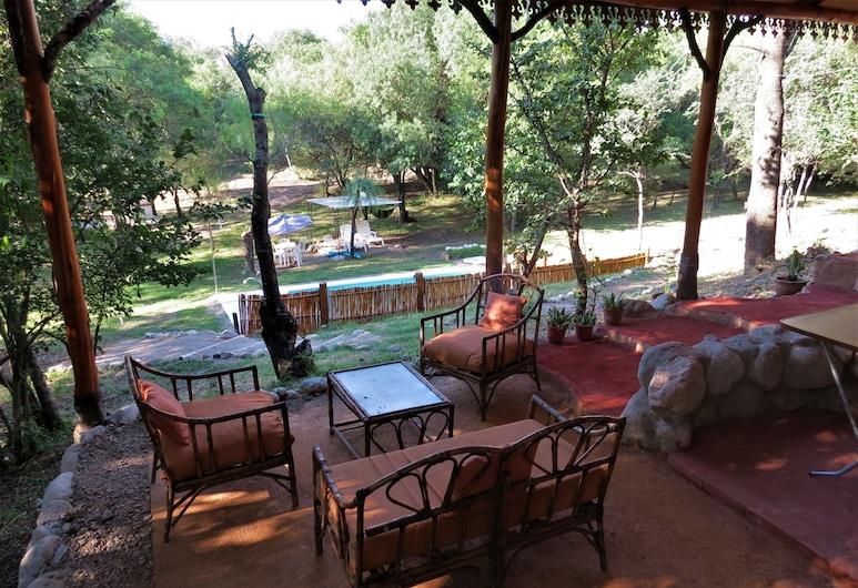 Eco Veggie Hostel Balaramapuri, San Javier, Terrasse/veranda