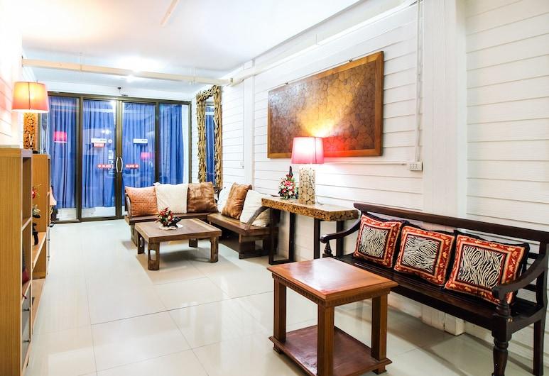 Babo House.bkk Khaosan, Bangkok, Sittområde i lobbyn