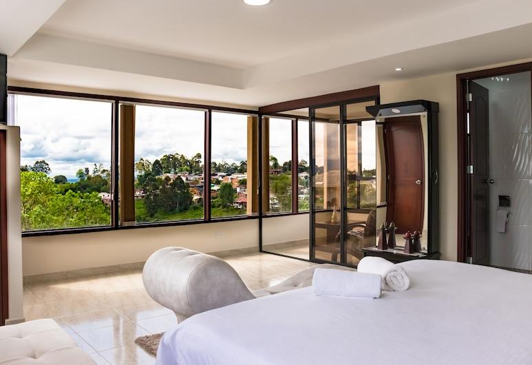 Hostal La Masia, Salento, Luxury Suite, 1 Double Bed, Mountain View, Guest Room