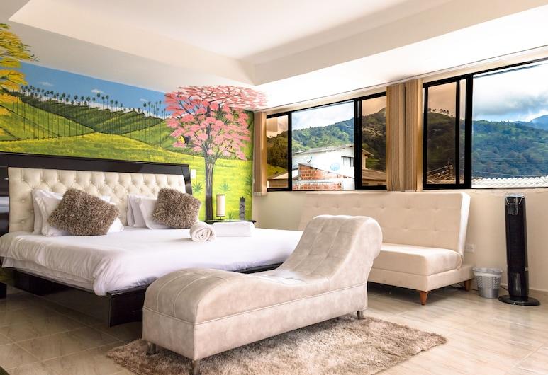 هوستال لا ماسيا, سالينتو, جناح فاخر - سرير مزدوج - منظر للجبل, غرفة نزلاء