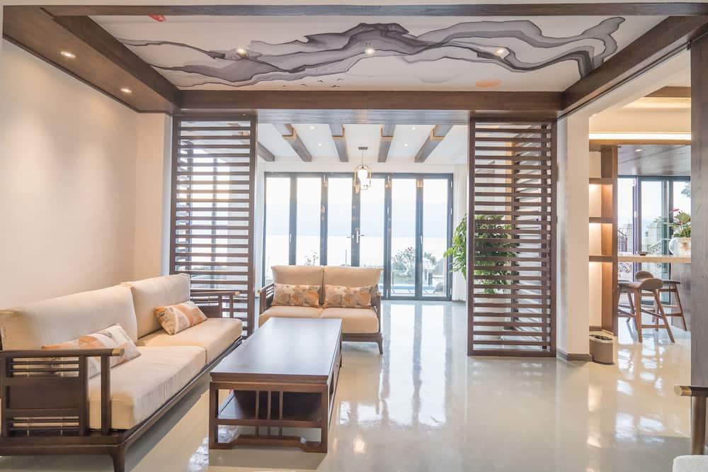 Luksuzna dvokrevetna soba, pogled na jezero - Dnevni boravak
