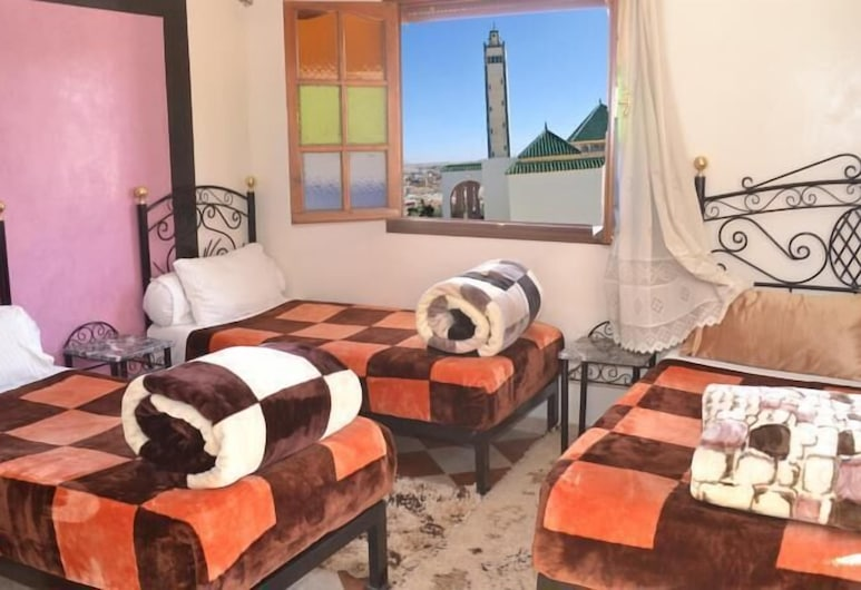 Hotel Ali Midelt, Midelt, Triple Room, 3 Single Beds, Private Bathroom, Guest Room