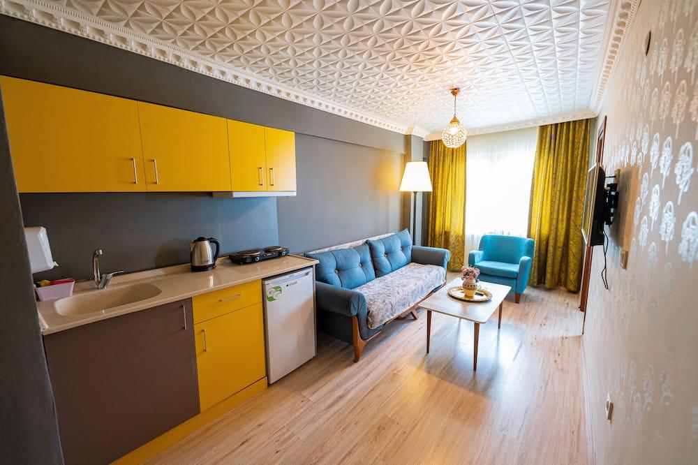 Klasisks dzīvokļnumurs, viena guļamistaba - Dzīvojamā istaba