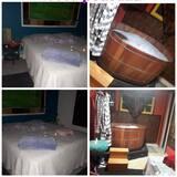 Dvivietis kambarys jaunavedžiams, karšta vonia - Atskira masažinė vonia