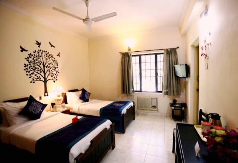 Happy Stay Service Apartments, Chennai, Chambre Deluxe, vue jardin, Chambre