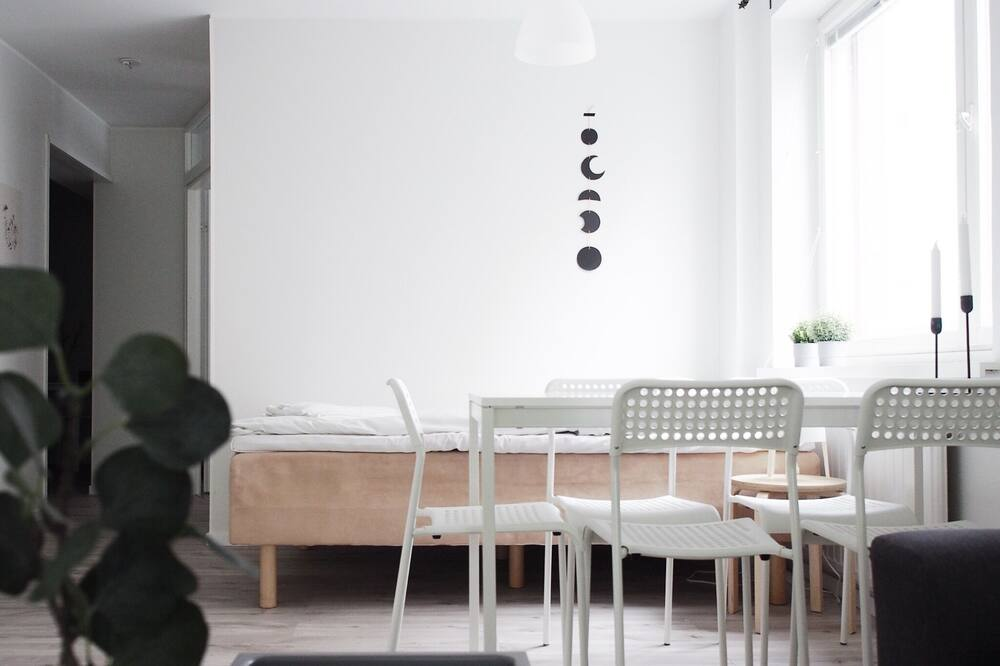 City Apartment, Balcony, City View - Living Room