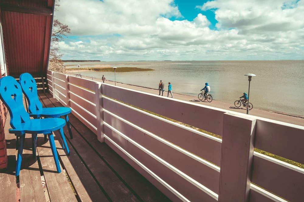 Standartinio tipo dvivietis kambarys (2 viengulės lovos), bendras vonios kambarys, vaizdas į jūrą - Vaizdas į paplūdimį / vandenyną