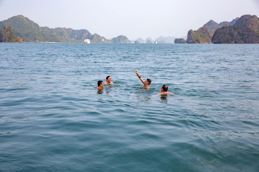Deluxe Tek Büyük Yataklı Oda, Plaj Manzaralı - Özel havuz