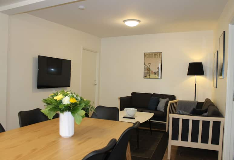 Odense Apartments, Odense, Apartment, 2 Schlafzimmer (4-6 persons), Wohnbereich