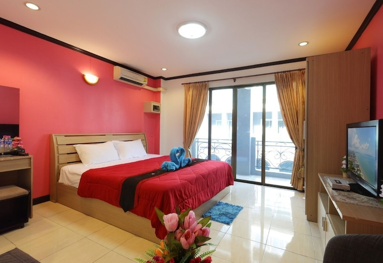 Sangwan Guest House, Pattaya, Double Room With Balcony, Phòng