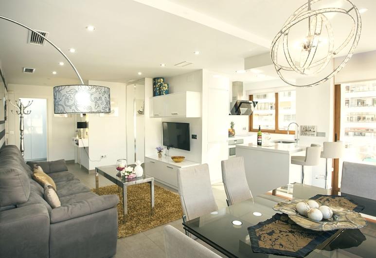 La Nogalera Luxury & Comfort, Torremolinos, Lejlighed - 2 soveværelser - balkon - delvis havudsigt, Opholdsområde