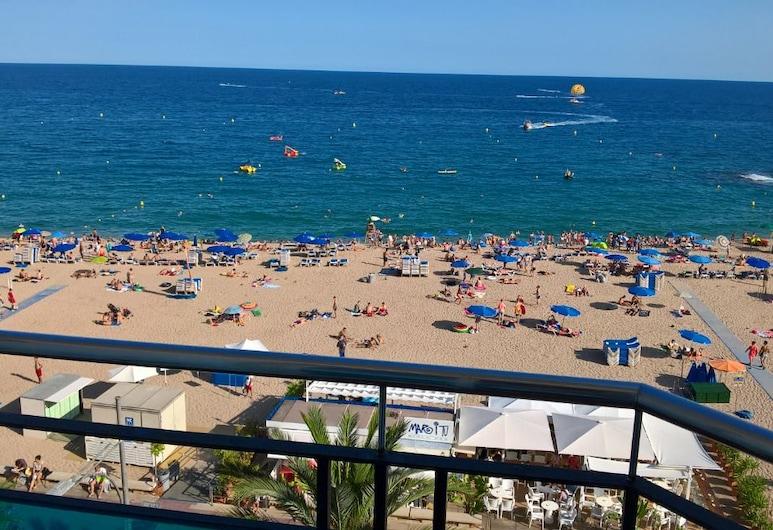 Hostal La Playa, Lloret de Mar, Pokój dwuosobowy, balkon, widok na morze, Balkon