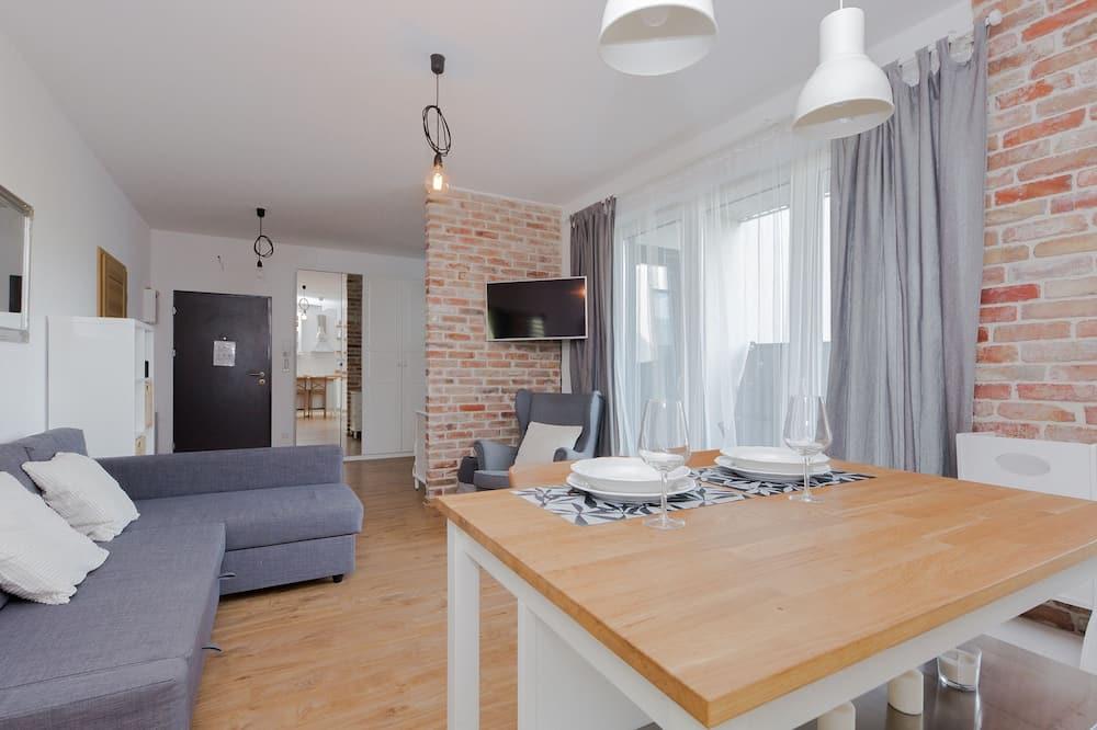 Appartement Confort, vue cour intérieure - Coin séjour
