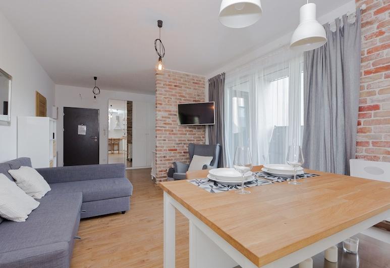 ShortStayPoland Marymoncka (B22), Varšava, Apartmán typu Comfort, výhľad do dvora, Obývacie priestory