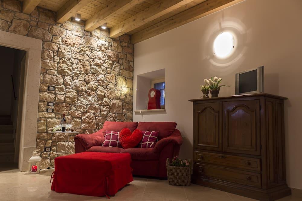 Deluxe-lejlighed - 2 soveværelser - køkken - Opholdsområde