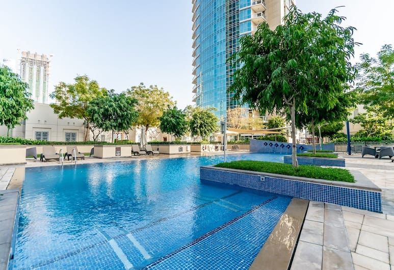 套房開放式公寓 - 自在艾瑪爾飯店, 杜拜, 室外游泳池