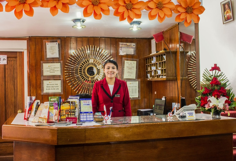 AMANECER EN EL SOL HOTEL, Cusco, Resepsjon