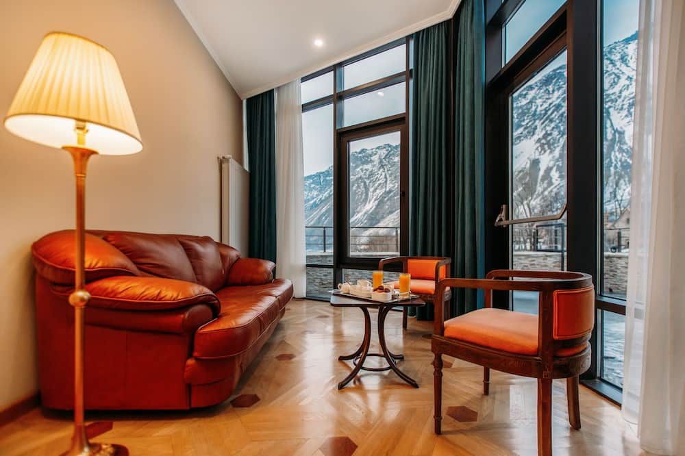 豪華雙人房, 山景 - 客廳