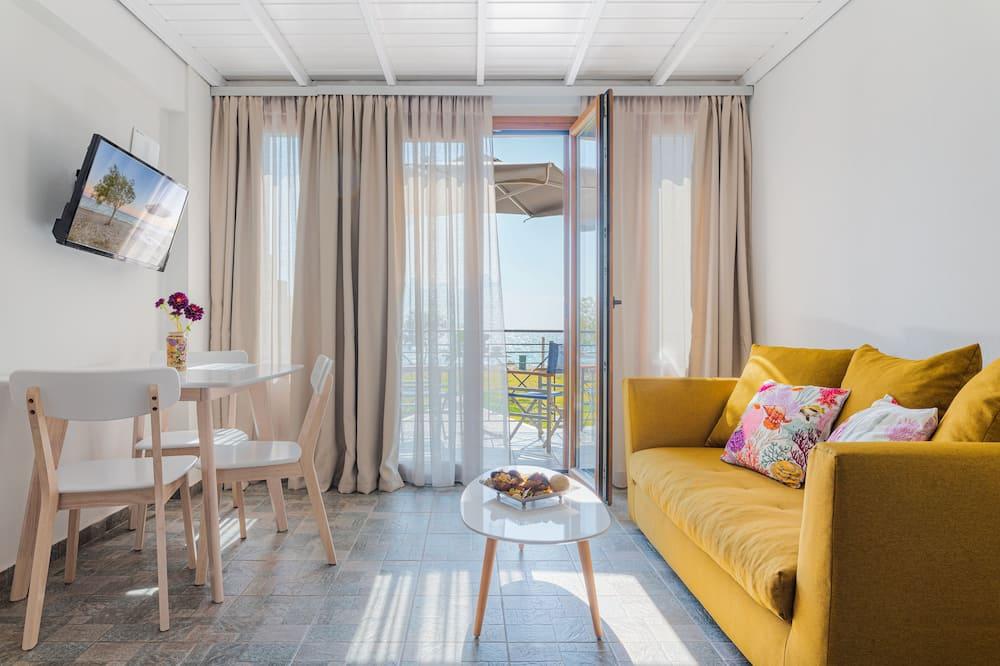 Triple Room, Sea View (Ammos) - Living Area