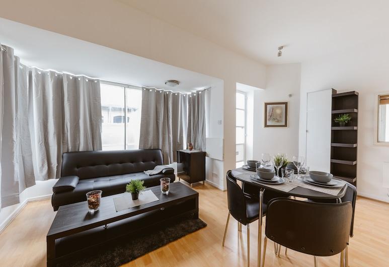 Marina Apartment Canary Wharf, London, Panoramic-Apartment, eigenes Bad, Blick auf den Jachthafen (Marina Apartment), Lounge