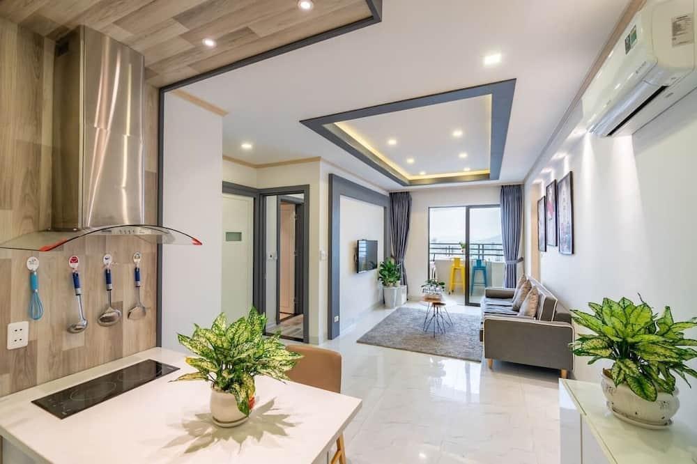 Appartement Panoramique, 2 chambres - Restauration dans la chambre