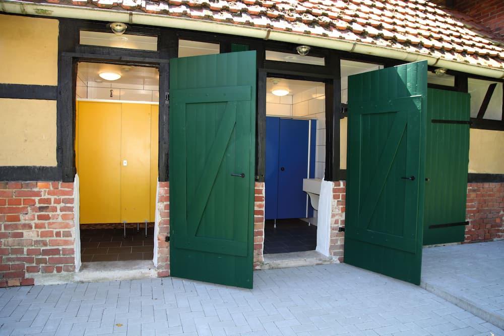 Ferienhütte, Gemeinschaftsbad - Badezimmerausstattung