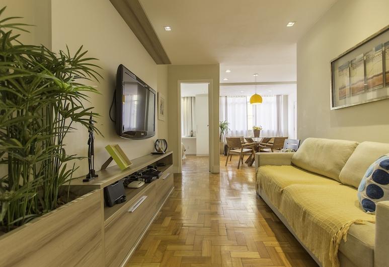 LineRio Praia de Copacabana 370.374, Rio de Janeiro, Deluxe Apartment, 3 Bedrooms, Living Room