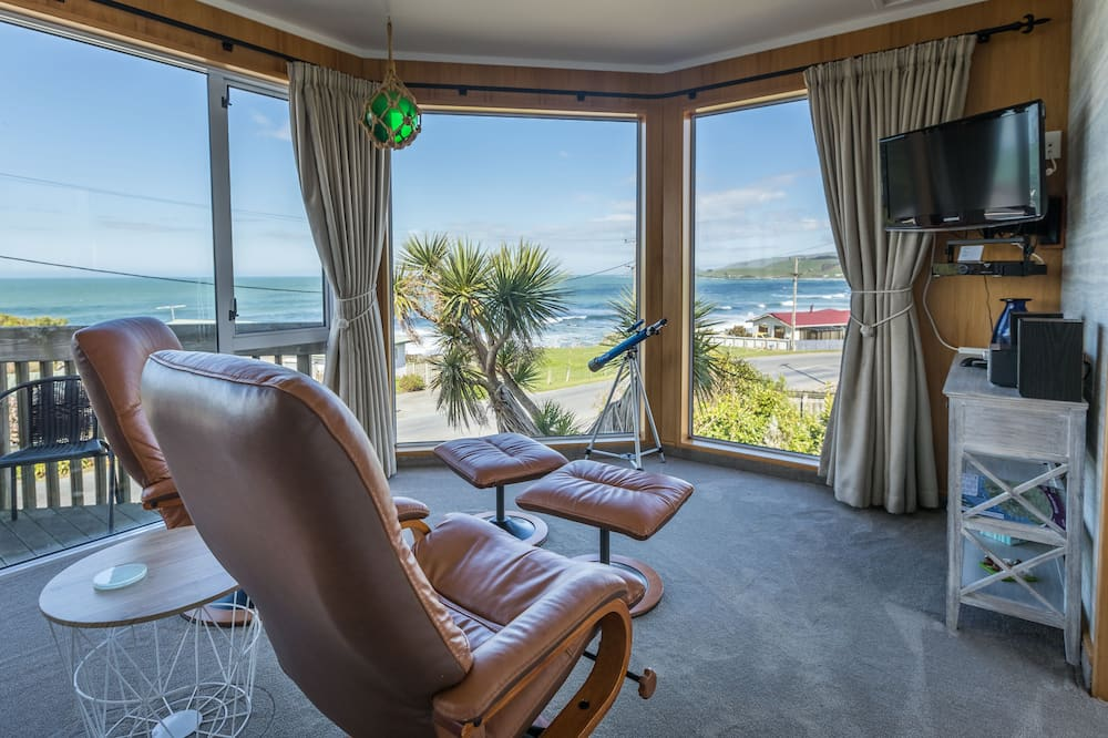 全景開放式客房, 1 張特大雙人床, 海景 - 陽台