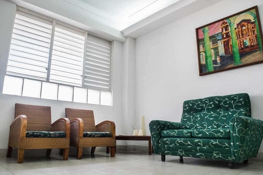 디럭스 아파트, 시내 전망 - 거실 공간