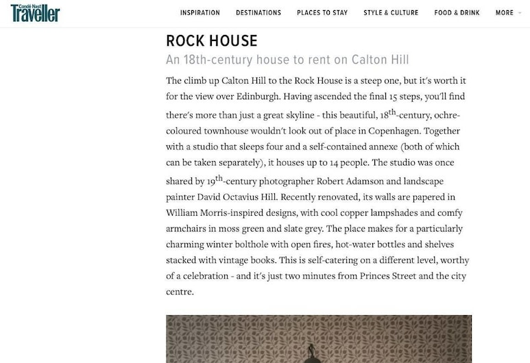 The Rock House: Historic Gem in the Heart of the City, Edinburgh