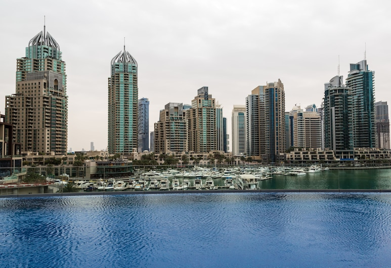 HiGuests Vacation Homes - Cayan Tower, Dubajus, Lauko baseinas
