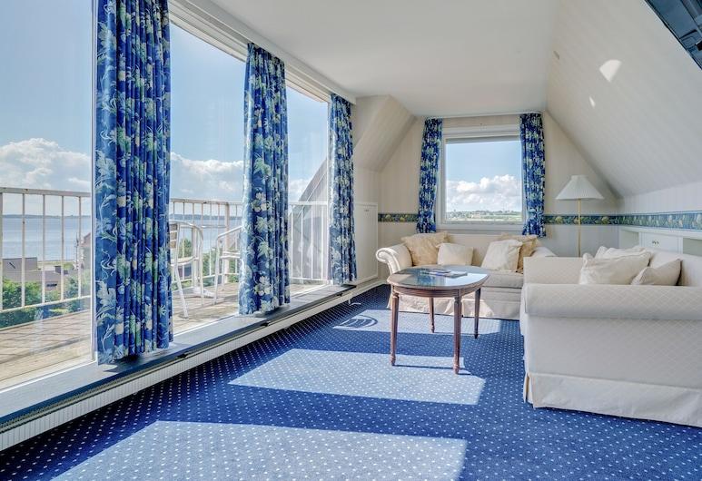 Hotel Sønderborg Garni, Sønderborg, Apartament typu Suite, Łóżko queen, widok na morze, Powierzchnia mieszkalna