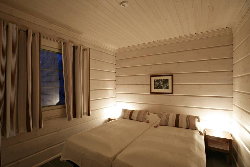 Comfort-alpehytte - sauna - udsigt til gårdsplads - Værelse