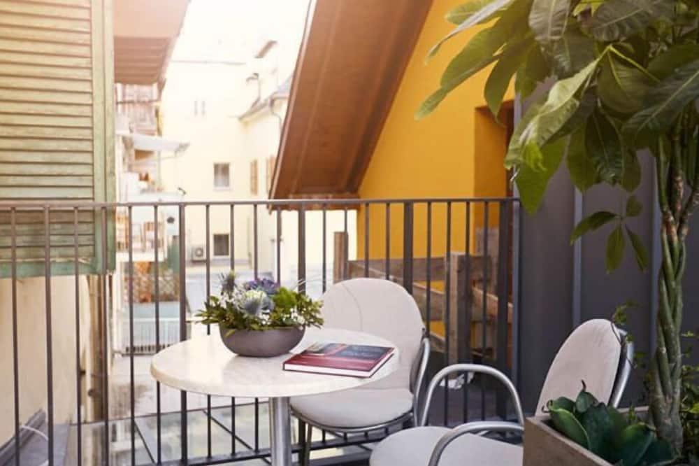 City-huoneisto, 1 makuuhuone, Kaupunkinäköala (Kornplatz) - Parveke