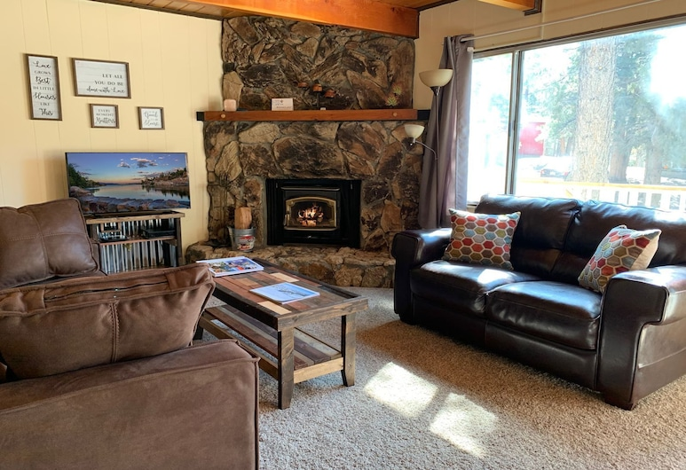 Cabin in the Pines, Биг-Биар-Лейк, Домик, 2 спальни, Зона гостиной