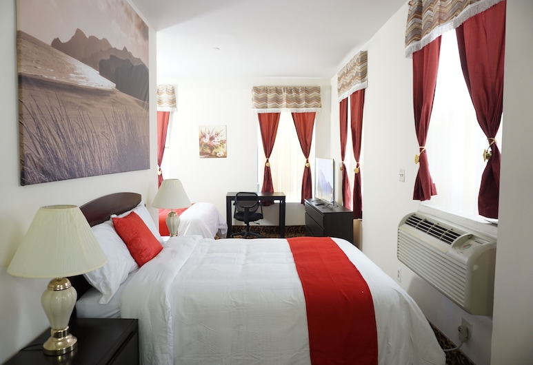 Kings Hotel Inc, Brooklyn, Deluxe Room, 2 Double Beds, Non Smoking, Refrigerator, Guest Room