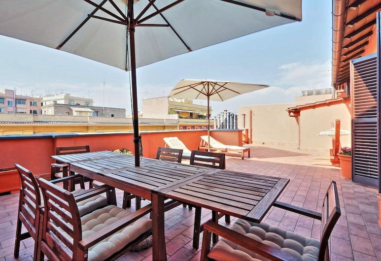 Vatican LuxApart Terrace - My Extra Home, Rom, Lägenhet - flera sängar - utsikt mot staden, Terrass