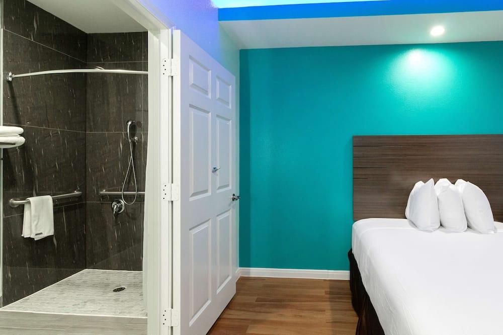 Izba, 2 veľké dvojlôžka, bezbariérová izba, nefajčiarska izba - Kúpeľňa