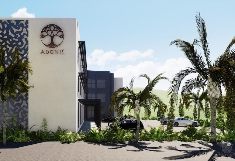 Adonis Cupecoy, Lowlands, Façade de l'hôtel
