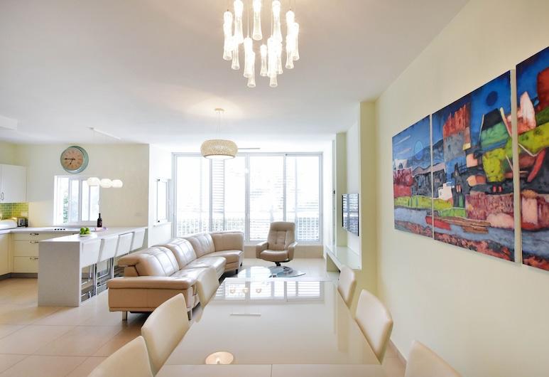 Gordon Beach Luxury PRK Stay at My Place, Tel Aviv, Apartmán, 3 ložnice, Obývací prostor