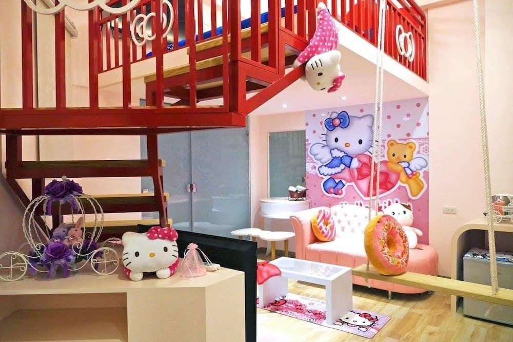 Design Tek Büyük Yataklı Oda, 1 Büyük (Queen) Boy Yatak - Çocuk Temalı Oda