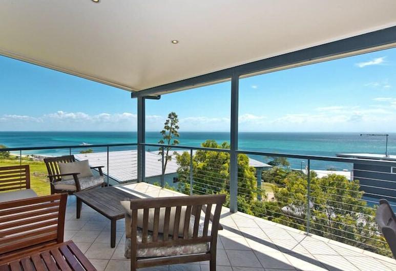 Blue Crab Beach House, Moreton Island, Ferienhaus, 4Schlafzimmer, Balkon